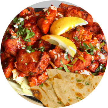 51. CHICKEN SIZZLER WITH NAAN