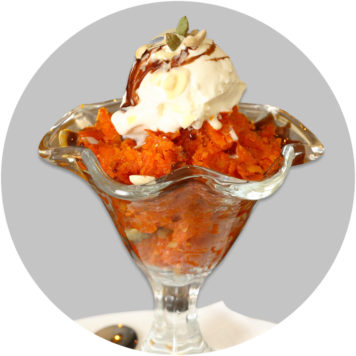 142. GAJAR HALWA WITH ICE-CREAM