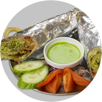 25. LITTLE INDIA WRAP WITH CHICKEN