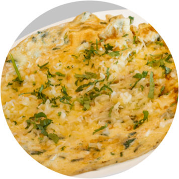 36. PLAIN OMELET WITH CHEESE