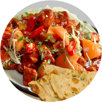 47. PORK SIZZLER WITH NAAN