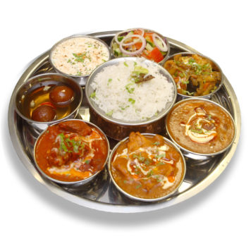 56. MIXED MEAT THALI