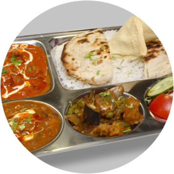 62. SMALL LAMB THALI