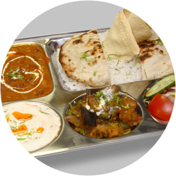 65. SMALL VEGETABLES THALI