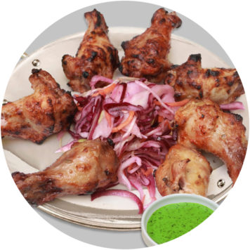 7. TANDOORI WINGS
