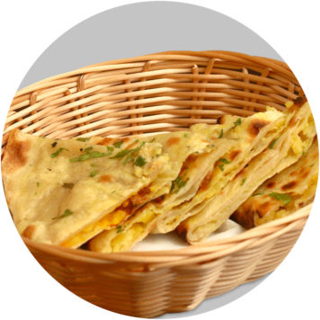 75. ONION CHILLI KULCHA